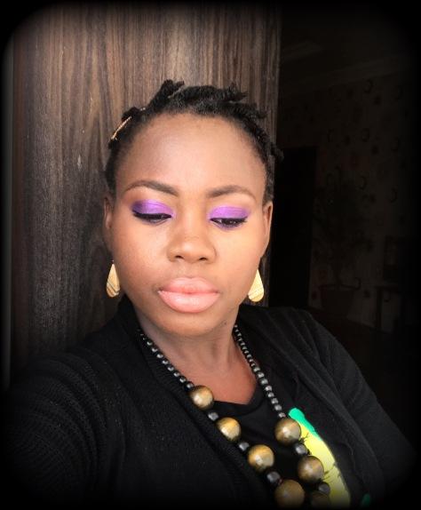 Purple eyes, day time makeup, simple makeup, nude lips, simple makeup, easy makeup