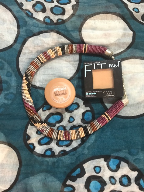 Maybelline dream matte mousse foundation, Maybelline fit me powder