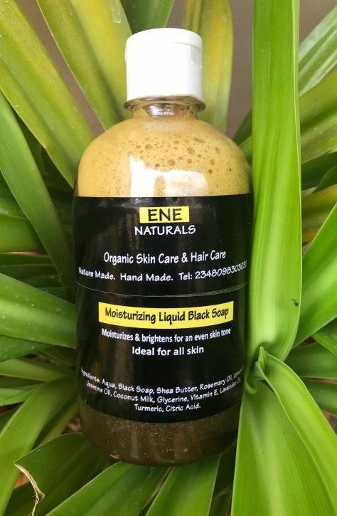 Ene Naturals moisturizing liquid black soap, African black soap, African liquid black soap