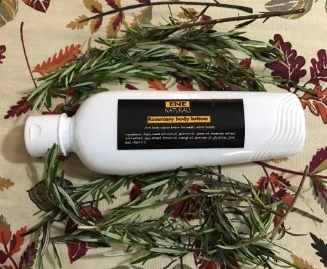 Organic Rosemary body lotion, anti odor lotion