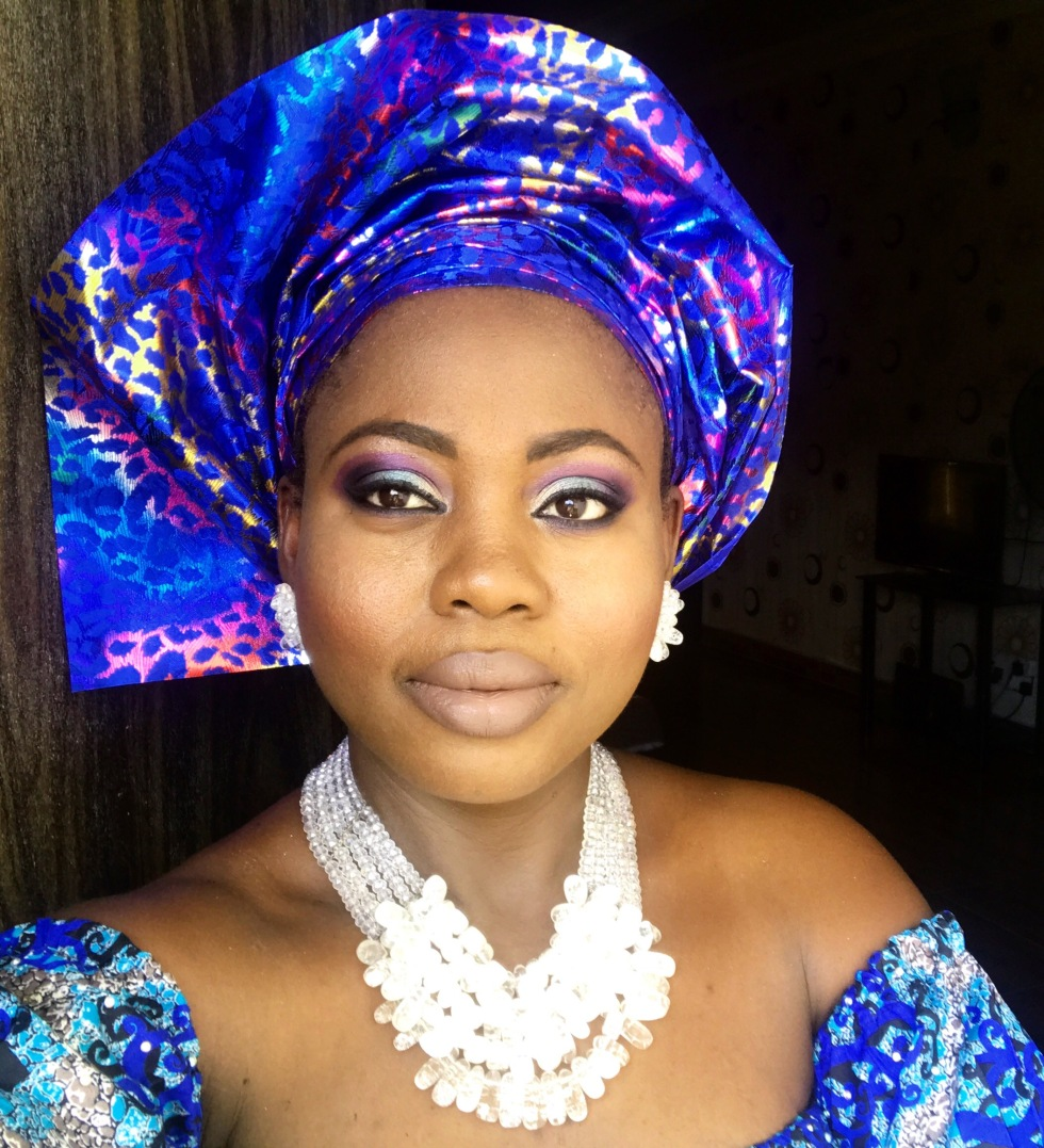 Nigerian makeup with gele, Nigerian jewelry design